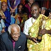 Archbishop Desmond Tutu with recipient, Soderberg